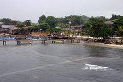 Küstengewässer Roatan Stockfoto