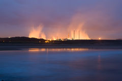 Küstenindustrie Stockfoto