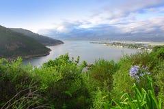 Küstenlagunemündung Stockfoto