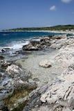 Küstenlandschaft auf der Adria, Kroatien stockfotografie