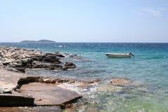 Küstenlandschaft auf der Adria, Kroatien stockfotos