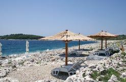 Küstenlandschaft auf der Adria, Kroatien lizenzfreies stockfoto