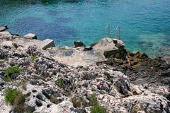 Küstenlandschaft auf der Adria, Kroatien, stockbild