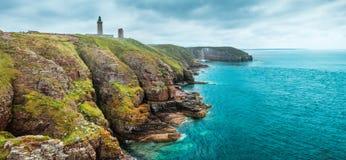 Küstenlandschaft Bretagne, Frankreich lizenzfreie stockfotos