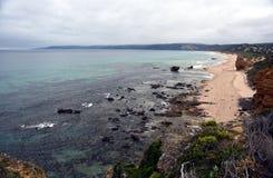 Küstenlandschaft des Ozeans Stockbilder