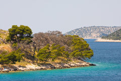 Küstenlandschaft, Kroatien Lizenzfreie Stockfotografie