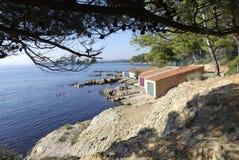 Küstenlandschaft von südlich von Frankreich Lizenzfreie Stockfotografie