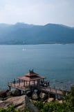 Küstenlandschaftsviel versprechende Aussicht HaiTing Grenzinsel Lingshui Stockfotografie