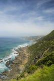 Küstenlinie auf der großen Ozean-Straße, Süd-Victoria Stockfotografie