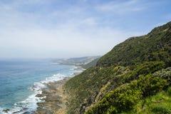Küstenlinie 1 auf der großen Ozean-Straße, Süd-Victoria Lizenzfreies Stockbild