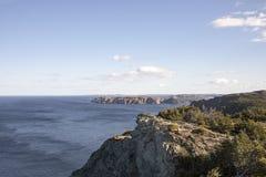 Küstenlinie bei Twilingate, Neufundland, Kanada stockbilder