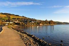 Küstenlinie der Otago Halbinsel Stockfotos