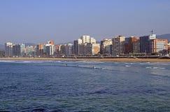 Küstenlinie in der Stadt Gijon gelegen an nördlich von Spanien Stockfoto