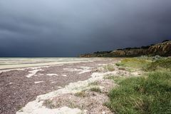 Küstenlinie der Yorke Halbinsel an einem düsteren Tag Lizenzfreies Stockbild