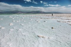 Küstenlinie des Toten Meers, Israel Lizenzfreie Stockfotografie
