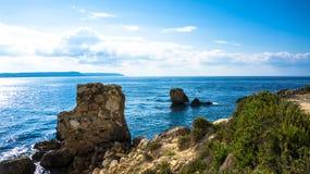 Küstenlinie Gozo Stockfoto