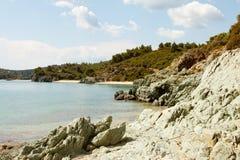 Küstenlinie in Griechenland Lizenzfreies Stockbild