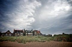 Küstenlinie-Häuser Stockfoto