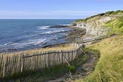 Küstenlinie am Heiligen Jean de Luz in Frankreich Lizenzfreie Stockfotos