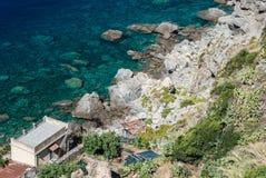 Küstenlinie im Süden von Italien lizenzfreies stockfoto