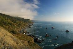 Küstenlinie in Kalifornien, panoramische Ansicht Stockfotografie