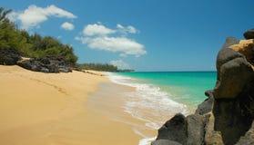 Küstenlinie, Lumahai Strand Stockbilder
