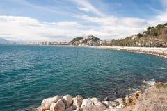 Küstenlinie in Màlaga Lizenzfreies Stockfoto