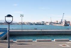 Küstenlinie in Màlaga Stockfotografie