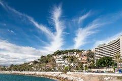 Küstenlinie in Màlaga Lizenzfreie Stockfotos