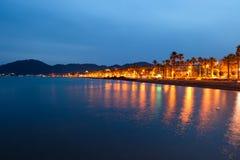 Küstenlinie nachts Lizenzfreie Stockfotografie