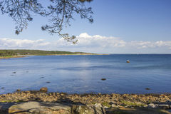 Küstenlinie nahe Halmstad in Schweden stockfotografie