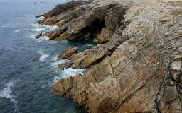 Küstenlinie nahe Quiberon, Bretagne, Frankreich Lizenzfreie Stockbilder