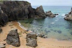 Küstenlinie nahe Quiberon, Bretagne, Frankreich Stockfotografie