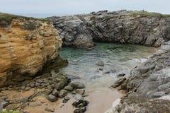 Küstenlinie nahe Quiberon, Bretagne, Frankreich Stockfotos