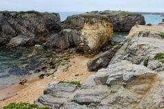 Küstenlinie nahe Quiberon, Bretagne, Frankreich Stockbilder
