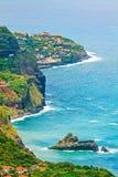 Küstenlinie nahe Sao Jorge/Boaventura, Madeira Lizenzfreie Stockfotografie
