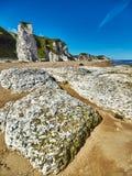Küstenlinie in Nordirland Stockfotografie