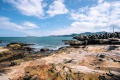 Küstenlinie, Taipeh, Taiwan Lizenzfreies Stockbild