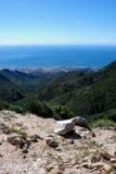 Küstenlinie und Berge, Marbella, Spanien. Stockfotografie