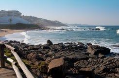 Küstenlinie von Ballito, Kwa Zulu Natal, Südafrika Stockbild