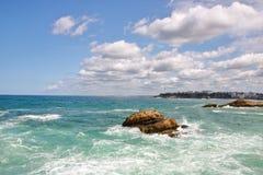 Küstenlinie von Biarritz stockfotos