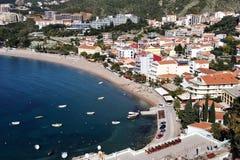 Küstenlinie von Budvanska Rivijera, Montenegro Stockfotografie