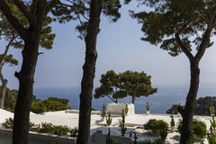 Küstenlinie von Capri-Insel, Capri, Italien Lizenzfreie Stockfotos
