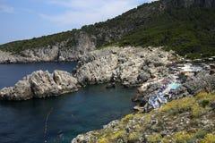Küstenlinie von Capri-Insel, Capri, Italien Lizenzfreies Stockfoto