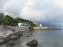 Küstenlinie von Foros-Erholungsort, Krim stockbilder