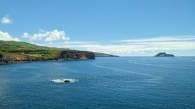 Küstenlinie von Terceira-Insel, Azoren Stockfotografie