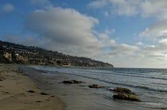 Küstenlinie von Torrance State Beach, Los Angeles County, Kalifornien Lizenzfreies Stockfoto