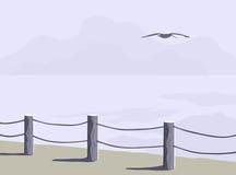 Küstenlinie-Zaun Stockfotografie