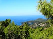 Küstenlinielandschaft des Mittelmeertruthahns Lizenzfreies Stockfoto