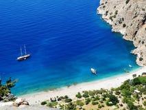 Küstenlinielandschaft des Mittelmeertruthahns Lizenzfreie Stockbilder